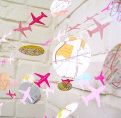 Le Bon Voyage Air avion guirlande guirlande en par LePetiteFest
