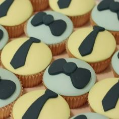 guy-themed cupcakes.  would be cute for a groom's cake or Father's Day