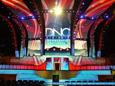 The podium from the 2008 DNC