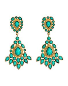 Teardrop Drop Earrings, Turquoise - Last Call by Neiman Marcus. $45