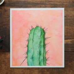 - Cactus - Are you a sucker for succulents? This cactus watercolor is prickly with prettine. Are you a sucker for succulents? This cactus watercolor is prickly with prettiness! See how this watercolor painting comes to be. Watercolor Cactus, Watercolour Painting, Painting & Drawing, Cactus Painting, How To Watercolor, Cactus Drawing, Water Colour Painting Ideas, Drawing Tips, Bee Painting