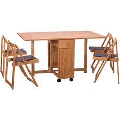 mesa dobrável com compartimento para as cadeiras