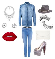 """""""Untitled #62"""" by chrissymyrick on Polyvore featuring Brunello Cucinelli, Paige Denim, Christian Louboutin, Style & Co., JFR, Lime Crime, Brixton and Trish McEvoy"""