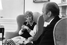 Jeanne Holm, Special Assistant for Women's Affairs under President Ford, worked with many organizations to improve women's civil rights. In 1975, she retired from the Air Force as the highest ranking woman of the time. (via Ford Library)
