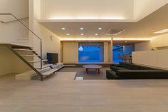 大開口サッシ・奥行の深い水平の家・間取り(愛知県日進市)  高級住宅・豪邸   注文住宅なら建築設計事務所 フリーダムアーキテクツデザイン