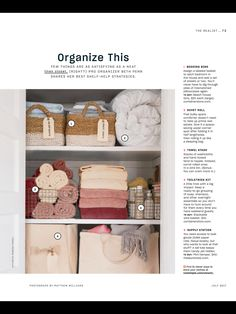 """""""Organize This"""" from Real Simple, July 2017. Read it on the Texture app-unlimited access to 200+ top magazines."""
