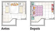 Quarto ganha cor, conforto e rack criado pela moradora - Casa