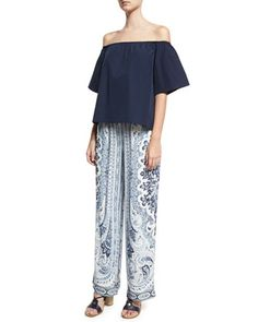 Benny+Drawstring-Waist+Pants,+Multi+and+Matching+Items+by+Alice+++Olivia+at+Neiman+Marcus.