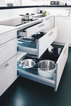 great organization in this clean modern kitchen