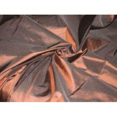 "SILK TAFFETA FABRIC 54""Coffee Brown colour"
