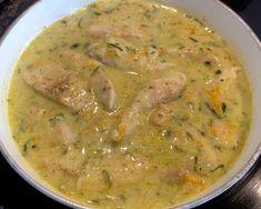 Filety drobiowe w pysznym sosie z cukinią - Blog z apetytem Calzone, Cheeseburger Chowder, Thai Red Curry, Soup, Ethnic Recipes, Blog, Diet, Blogging, Soups