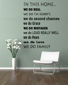 In this home we do.. Love this wall decal can't wait to get if for our home.