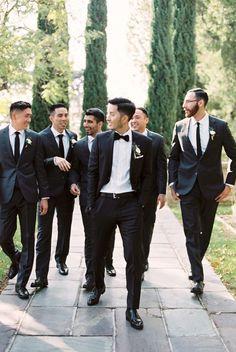 26 Ideas For Wedding Suits Men Black Groomsmen Groom Style Black Suit Wedding, Wedding Men, Wedding Suits, Wedding Attire, Trendy Wedding, Wedding Themes, Party Wedding, Dream Wedding, Wedding Dress