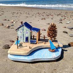 Little beach cottages Little Wooden House Coastal Decor