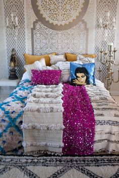 Handiras: and a dreamy tale of glamorous Moroccan bedroom ideas — M.Montague