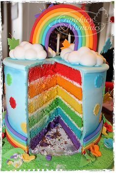 rainbow cake, via Flickr.