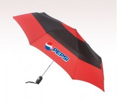Features – Auto open- close, totes® patented wide tie closure, rubber coated ABS handle, and lifetime warranty.  #umbrella #totes #logo