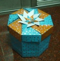 Origami Box - Octagon Star