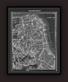 San Francisco Early 1900's Lithograph Map