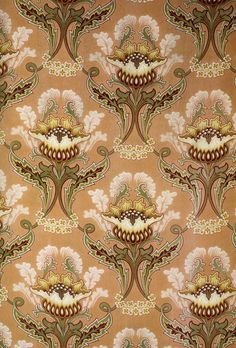 Art Nouveau Textiles DECORATIVE PAPER  Art by OneDayLongAgo