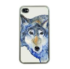 Wolf iphone cover Apple iphone 4 or 4s by HeavenlyCreaturesArt