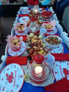 Table setting for the low country boil