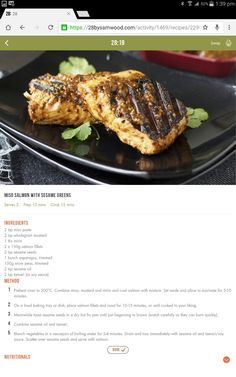 Miso salmon and greens Food N, Good Food, Food And Drink, Clean Recipes, Diet Recipes, Healthy Recipes, 28 By Sam Wood, Healthy Food Alternatives, Clean Eating