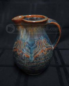 Gorgeous Mark Nafziger Pottery Glazed Creamer