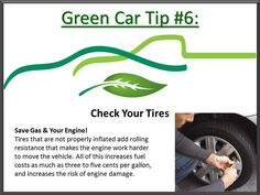 Its so simple! Check your tire pressure to save gas. Easy #CarCare