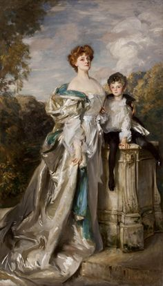 John Singer Sargent - Portrait of Lady Warwick and Her Son