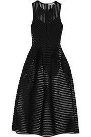 Rire mesh-striped jersey dress