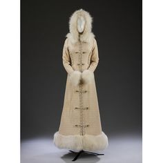 #Wedding coat-dress inspired by Russian uniforms with elaborate silver and cream frogging, designed by Bellville Sassoon, England 1986. l Victoria and Albert Museum