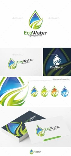 Eco Water  - Logo Design Template Vector #logotype Download it here: http://graphicriver.net/item/eco-water-logo-template/14220443?s_rank=224?ref=nexion