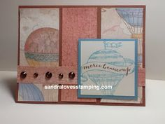 Balloon Ride paper and Give a Lift Stamp set - CTMH Sandra Loves Stamping