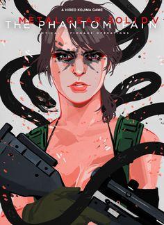 Portrait- Quiet from Metal Gear Solid 5 Prints:... - Mary Celeste Hauder