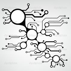 Аbstract circuit board techno background. EPS10 vector ...