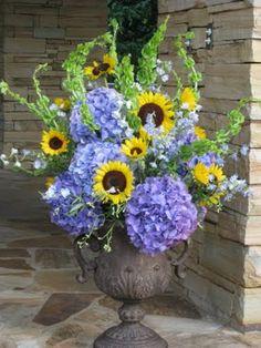 Sunflowers & Hydrangeas