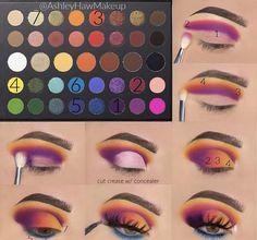 Eye Makeup Steps, Makeup Eye Looks, Eye Makeup Art, Dark Makeup, Crazy Makeup, Skin Makeup, Make Up Yeux, Sparkle Makeup, Makeup Morphe