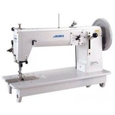 PLS- 243 flat bed walking foot and needle feed leather sewing machine Sewing Machine Tables, Sewing Machines, Juki, Sewing Leather, Industrial, Flat Bed, Walking, Industrial Music, Walks