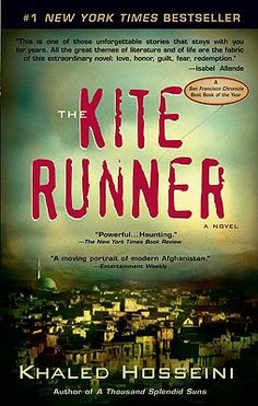The Kite Runner. I have been wanting to read this book for years. Hopefully I'll get to it soon.