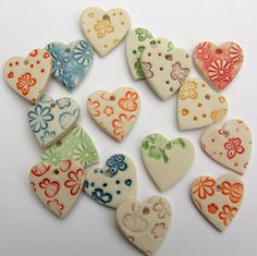 Porcelain Heart Shape Pendants  Pack of 5  by melissaceramics, £10.005 Handmade porcelain ceramic Heart shapes pendants great for jewellery making and scrapbooking, adds the perfect finishing touch to jewellery, craft projects, cards, scrapbooking and more. Also make great wedding favours, additions to wedding stationary!