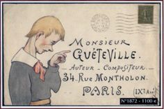 Illustrated envelope.