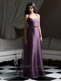 A-line Halter Floor-length Organza Satin Bridesmaid Dresses 14802753