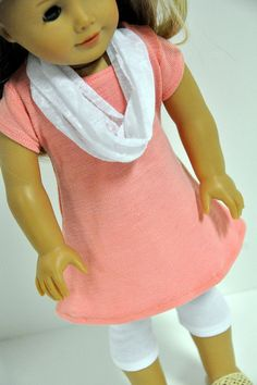American Girl Doll Clothes  Stylish Coral Knit by CircleCSewing,