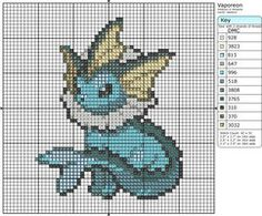 134 - Vaporeon by Makibird-Stitching