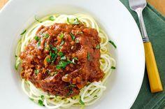 Garlic Roasted Shrimp with Zucchini Pasta - Cook Eat Paleo