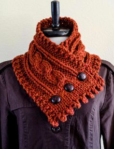 SALE The Fisherman's Wife Neck Warmer in Pumpkin Chai
