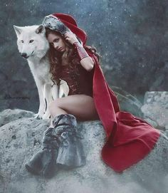 Photographer: SS PhotographyModel: Michelle Jacot - Model Wolf: Damu with Project WildsongH/MUA: Andy Calero Professional Hairstylist and Makeup Artist Welcome to Gothic and Amazing Foto Fantasy, Fantasy Wolf, Fantasy Art, Wolf Love, Wolf Spirit, Spirit Animal, Animals And Pets, Cute Animals, Wolf Hybrid