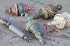 DIY Christmas ornaments from broken furniture