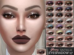 The Sims Resource: Sintiklia`s  Eyeshadow 17 • Sims 4 Downloads